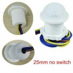 25mm nincs kapcsoló PIR infravörös test mozgásérzékelő vezérlő kapcsoló Fénylámpa 5W ~ 200W lakberendezés JP