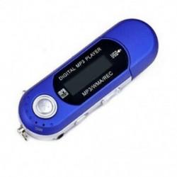 Kék 1db USB digitális MP3 lejátszó LCD képernyő támogatás 32 GB-os TF kártya és FM rádió