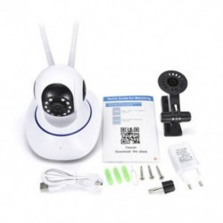 EU Plug Vezeték nélküli WiFi HD 1080P IP kamera biztonsági hálózat CCTV Baby Monitor Smart Webcam