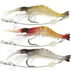 3db halászati csalit (hossza 17cm) Horgász csalik Crankbaits horogok Garnélarák Minnow Frog Fish Baits Bass Tackle Tool
