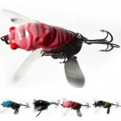 1db Cicada Bass rovar 4cm Horgász csalik Crankbaits horogok Garnélarák Minnow Frog Fish Baits Bass Tackle Tool