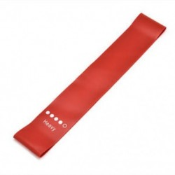 Piros Ellenállási sávok Gumi edző hurok rugalmas rugalmas nyújtás Fitness kar láb