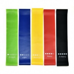 ALL 5 szín Ellenállás rugalmas gumiszalagok Gyakorlati jóga zenekarok Fitness jóga edzőterem edzés JP