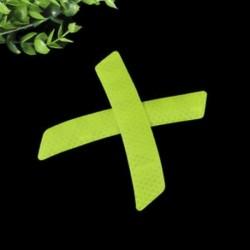 Zöld 2Pcs fényvisszaverő figyelmeztető szalag szalag autós lökhárító biztonsági matricák matricák