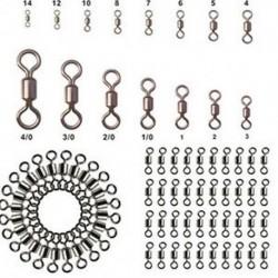 * 10 100db-os sok halászati hordócsapágy forgatható rozsdamentes acél szilárd gyűrű csatlakozó