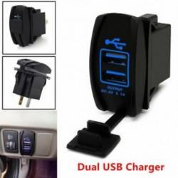 Univerzális 12-24V 3.1A kettős LED USB autós automatikus tápegység töltő csatlakozóaljzat