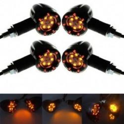 4 X Motorkerékpár kerékpár LED borostyánsugaras jelzőfény villogó jelzőfény Univerzális izzó