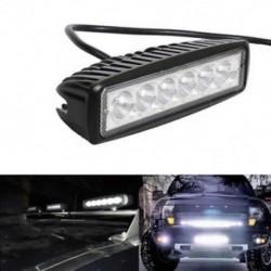 18W Spot LED fénymunka Bar lámpa vezetési köd Offroad SUV 4WD automatikus autóhajó