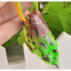 Zöld 1 * 1db nagy béka Topwater halászati csalit Crankbait horog Bass csörgő aranyos zöld