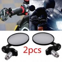 Motorkerékpár fekete kör 7/8 &quot Bar End Cafe hátsó oldalsó tükrök Bobber Cafe Racer számára