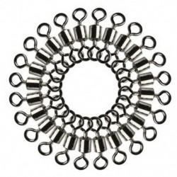 * 4 Rengeteg 100Pcs horgászcső csapágy forgatható szilárd gyűrű csatlakozó rozsdamentes acél