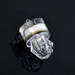 fehér LED mélycsepp víz alatti gyémánt vaku halászati fény Squid Strobe Bait Lure ÚJ