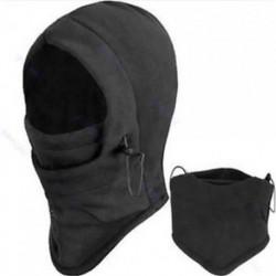 * 2 Fekete Szélálló kültéri sí motorkerékpár kerékpározás balaclava teljes arc maszk kalap nyak sál