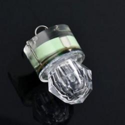 Zöld LED mélycsepp víz alatti gyémánt vaku halászati fény Squid Strobe Bait Lure JP