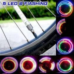 2 x 5 LED lámpa vaku gumiabroncs kerék szelep sapka fény autó kerékpár kerékpár motorkerékpár