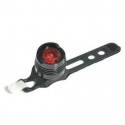 Fekete   piros LED töltés kerékpár piros fény figyelmeztetés biztonsági hátsó hátsó lámpa 3 üzemmód lámpa