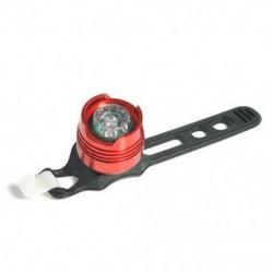 Piros   fehér LED töltés kerékpár piros fény figyelmeztetés biztonsági hátsó hátsó lámpa 3 üzemmód lámpa