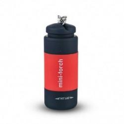 Piros 1db USB újratölthető LED-es villanófényű lámpa zsebkulcs kulcstartó vízálló