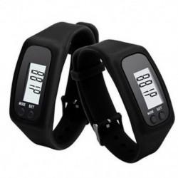 Fekete Digitális LCD pedométer csukló karkötő lépés séta futás kalória számláló