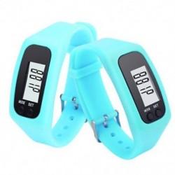 Kék Digitális LCD pedométer csukló karkötő lépés séta futás kalória számláló