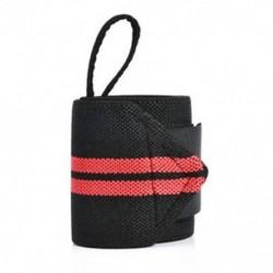 Piros Súlyemelő sávos pántok Csomagolva tornaterem Testépítő csuklótámogatás kötés térdcsomagolás