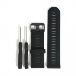 Fekete 1db csere szilikagél gyors telepítésű sávszíj a Garmin Fenix 5X GPS órához