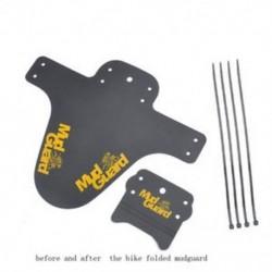 Sárga 2x Kerékpár Könnyűbb hegy MTB Sárvédők Gumiabroncs gumiabroncs Kerékpár sárvédők