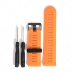 narancs Új csere Silicagel Gyors telepítésű sávszíj a Garmin Fenix 5X GPS Watchhez