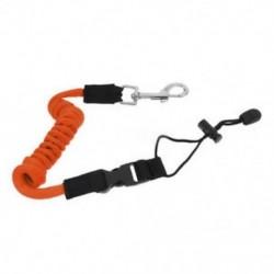 narancs 1x biztonsági kajak-kenu csónak lapát pórázos horgászbot tekercselt nyakpántos kábel