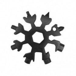 Fekete 19-1 hópehely többszerszámos hópehely acél alakzat lapos kereszt háztartási kéziszerszám