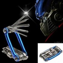 11 in 1 Kerékpár eszközök Bike Multi javító készlet Hex Spoke Wrench csavarhúzó készlet JP