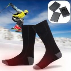 Téli újratölthető elektromos meleg fűtött zokni szabadtéri beltéri sport termikus zokni
