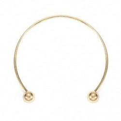 Arany Nyitott mandzsetta karperec karkötő csavaros golyó illeszkedik az európai varázsa ezüst, arany Új
