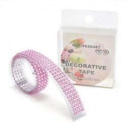 Rózsaszín Öntapadós akril strasszok ragaszkodnak a Scrapbooking kézműves matricához Új