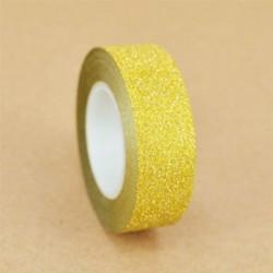 Sárga 10M DIY Öntapadós csillogó Washi maszkoló szalag matrica kézműves dekoratív dekoráció