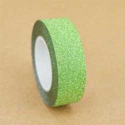 Zöld 10M DIY Öntapadós csillogó Washi maszkoló szalag matrica kézműves dekoratív dekoráció