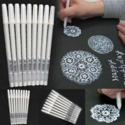 1x fehér gél tinta toll művész archívum finom tipp rajz rajz festés tollak