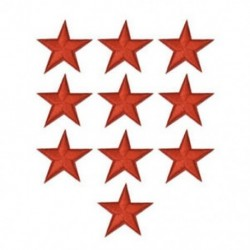 10PCS Red Star Hímzett varrott vasalat a javításokhoz Jelvényes kalap táska DIY szövetbevonat
