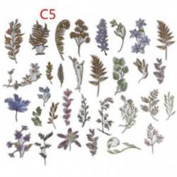 * C5 60Pcs / Set Hot Calendar Scrapbook Album naplókönyv Decor DIY papír tervező matrica kézműves