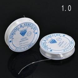 1.0mm 2PCS / Pack Crystal Elasztikus Gyöngyös Cord String Thread DIY nyaklánc karkötő