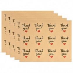 60db szív   Köszönöm 60-120db &quot Köszönöm&quot  aranyos boríték tömítések papír matricák címke esküvői