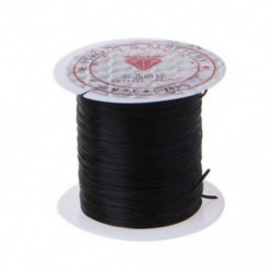 Fekete Elasztikus 1 tekercs gyöngyfűző szál rugalmas poliészter kábel húr ékszer készítéséhez