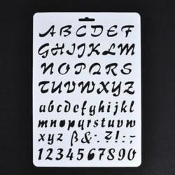 3 * Szám betű ábécé rétegezés stencil festés Scrapbooking papír kártyák kézműves