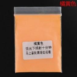 Narancs sárga 10g fényes fényes fényes fény a sötét por izzó pigmentben