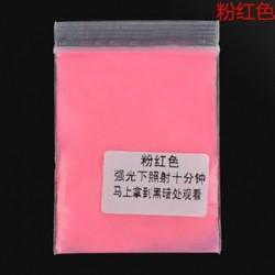 Rózsaszín 10g fényes fényes fényes fény a sötét por izzó pigmentben