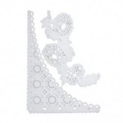 * 16 csipke virág (85 * 12 mm) DIY Metal 3D vágószerszámok Stencil Scrapbook Album papírkártya Dombornyomó kézműves