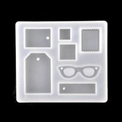 5Pcs / Set Mini (kb. 2,5-3cm) 1 / 7pcs szilikon öntvény DIY készítése penész gyanta kézműves nyaklánc medál ékszerek