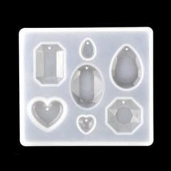 1db-gyémánt vegyes minta 1 / 7pcs szilikon öntvény DIY készítése penész gyanta kézműves nyaklánc medál ékszerek