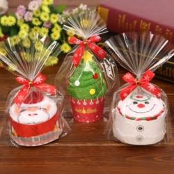 1db Kreatív Karácsonyi Törölköző Dekoráció Mikulás Hóember süti sütemény kinézetű ajándák csomagolás