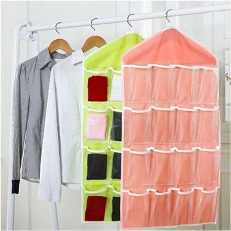 e0898899c438 1x 16 zsebes áttetsző zacskó táska apróság tároló szekrény fürdőszoba
